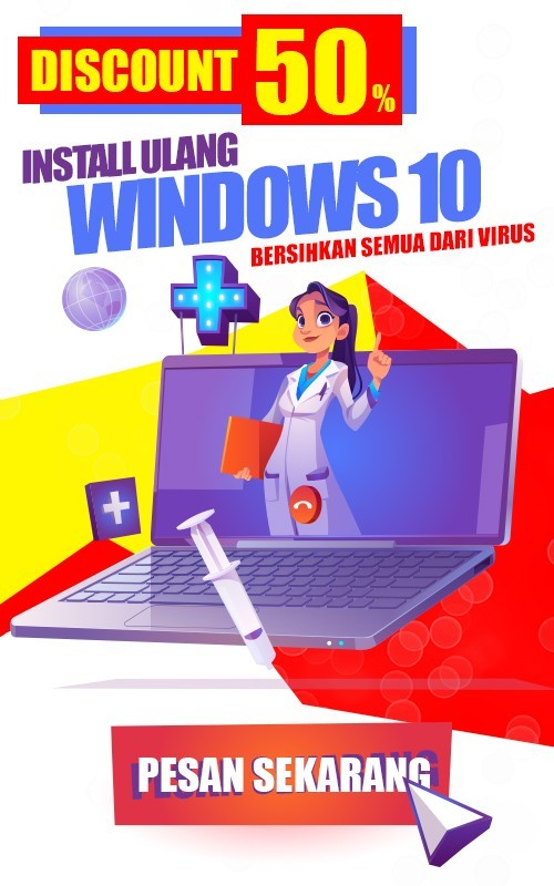 promo service laptop install ulang windows 10